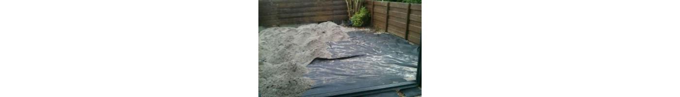 De zware kwaliteit anti worteldoeken zijn geschikt voor verschillende ondergrondse toepassingen. Ze kunnen onder andere worden gebruikt onder grof puin, grindpaden, sierbestrating en erf of erf verhardingen.